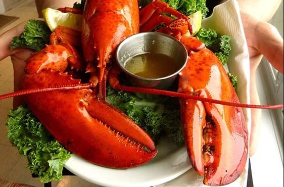 le homard la vedette du souper lors de notre croisière annuelle